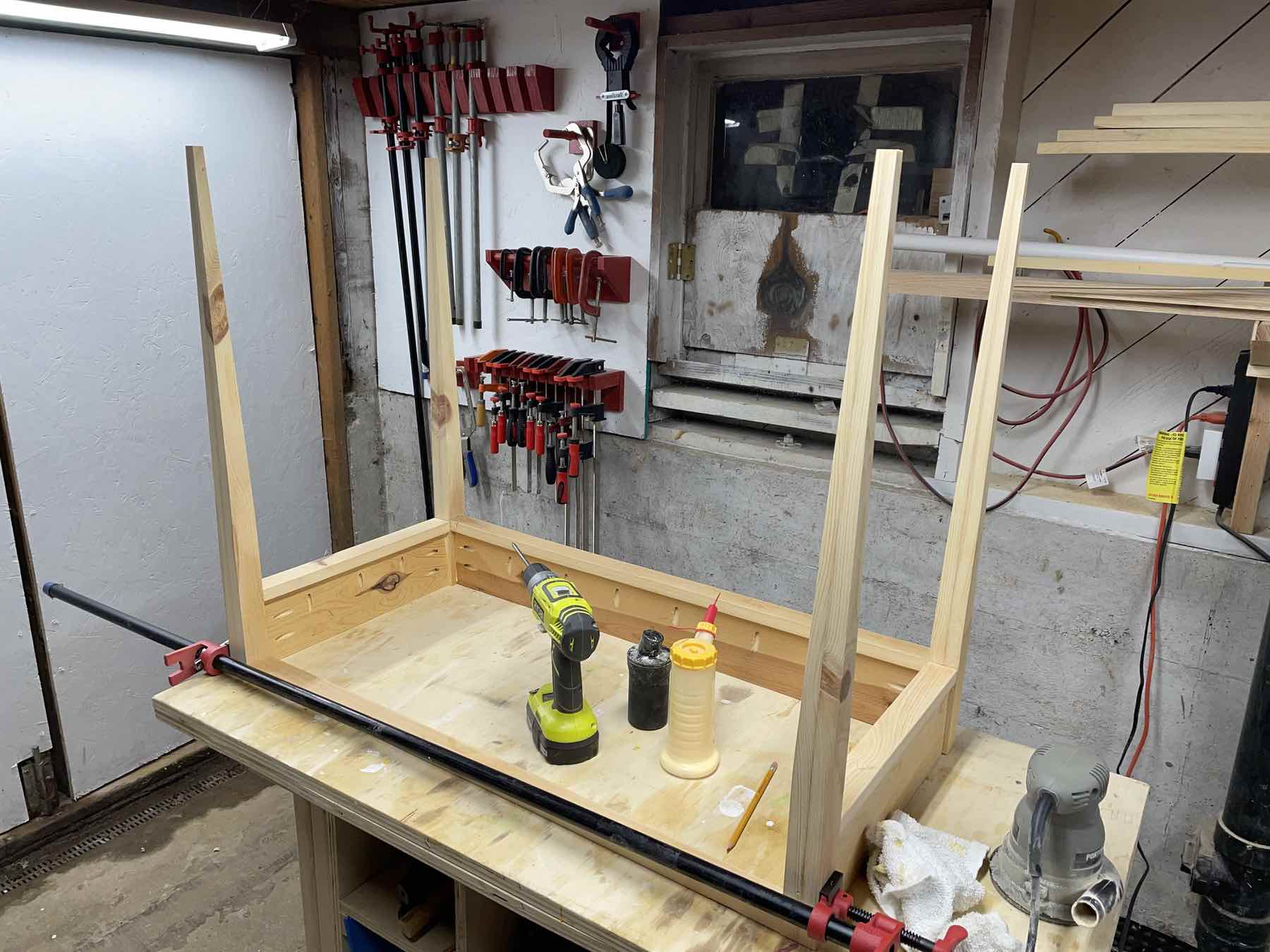 Writing desk construction
